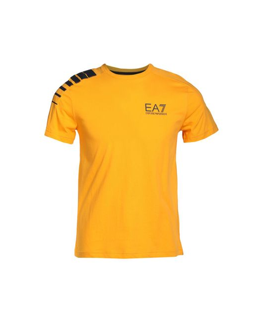 EA7 - Yellow T-shirt for Men - Lyst