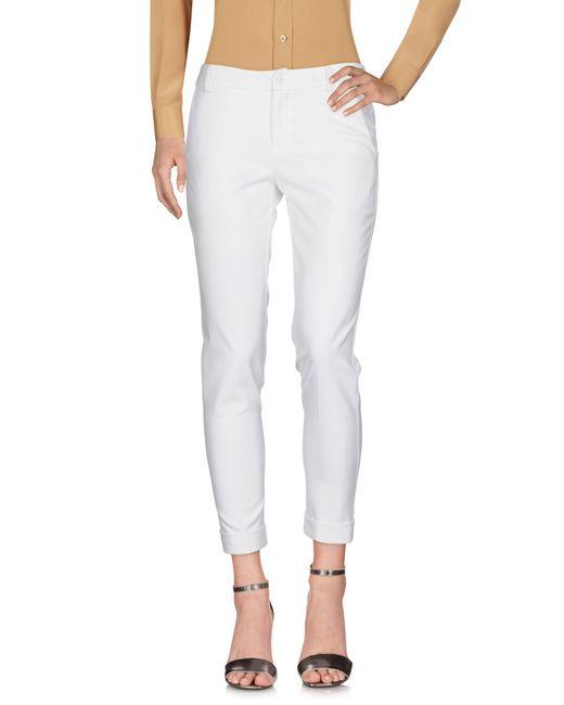 Blugirl Blumarine - White Casual Pants - Lyst