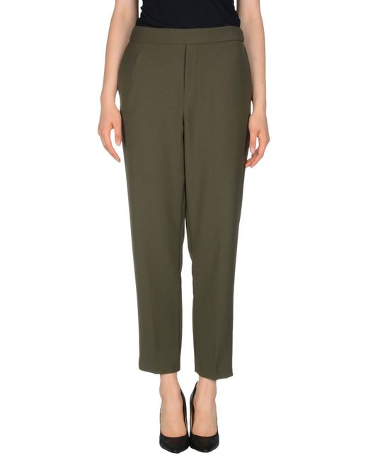 P.A.R.O.S.H. - Green Casual Trouser - Lyst
