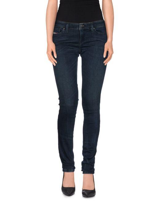 DIESEL | Blue Denim Trousers | Lyst