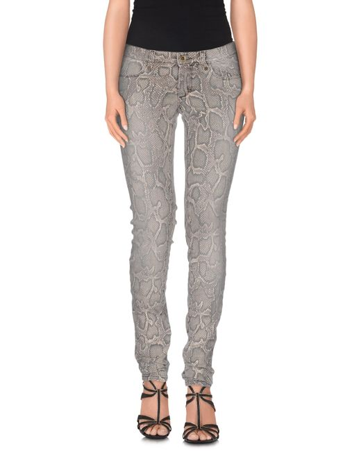 Plein Sud Jeanius | Gray Denim Trousers | Lyst