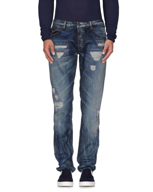 Just Cavalli | Blue Denim Trousers for Men | Lyst
