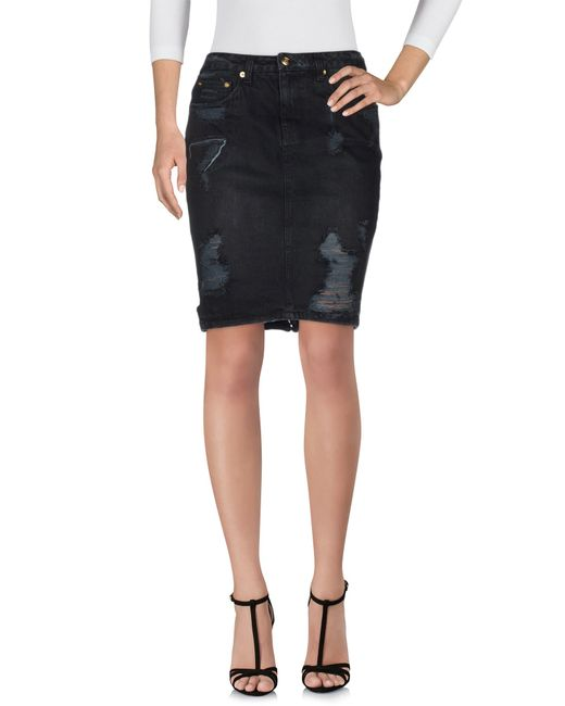 ksubi denim skirt in black lyst
