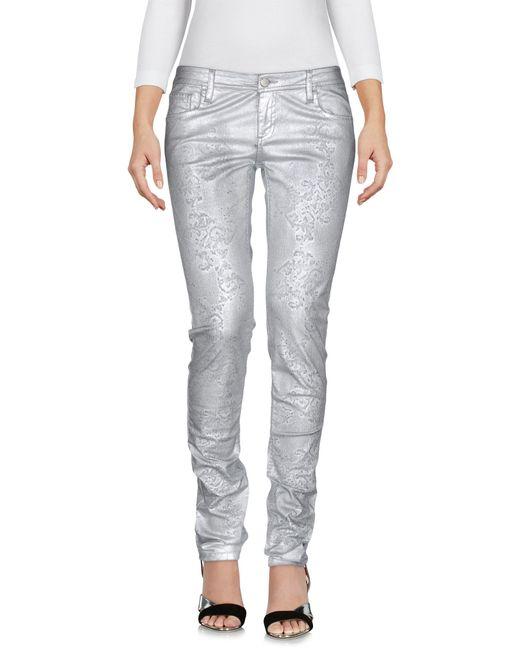 Faith Connexion | Metallic Denim Trousers | Lyst