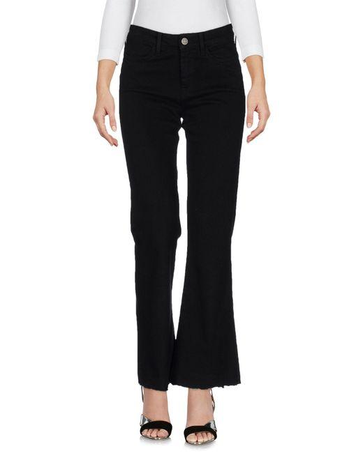 MiH Jeans | Black Denim Trousers | Lyst