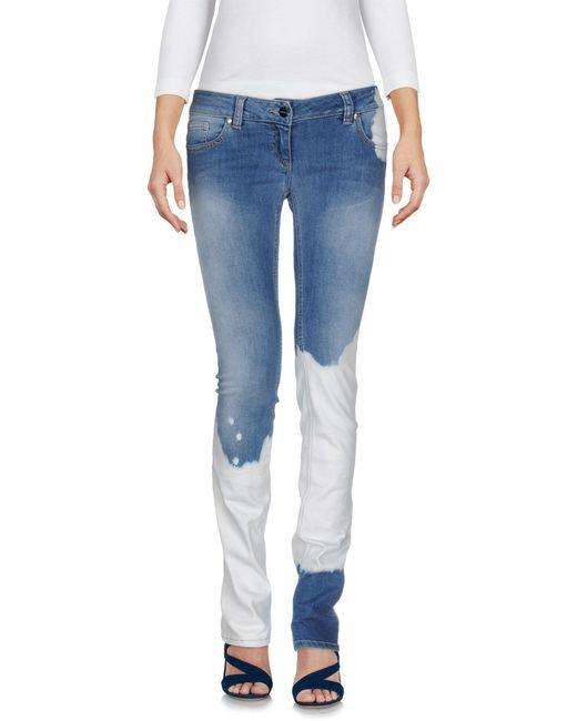 Liu Jo | Blue Denim Trousers | Lyst