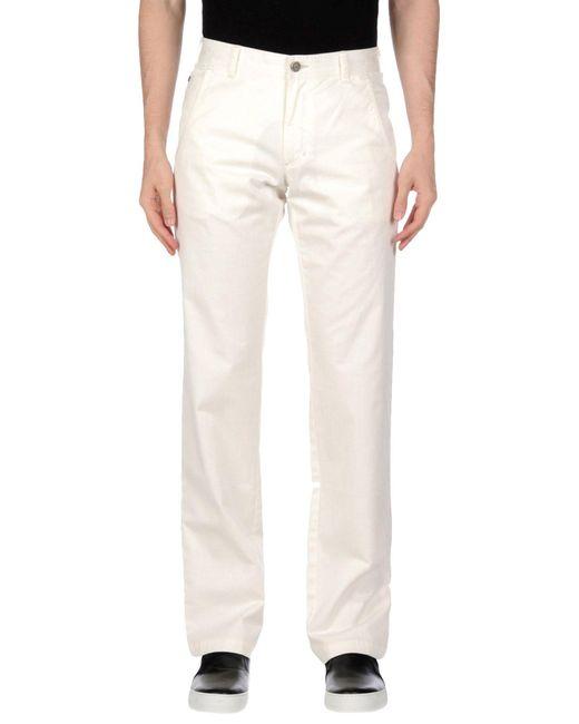 Class Roberto Cavalli   White Denim Pants for Men   Lyst