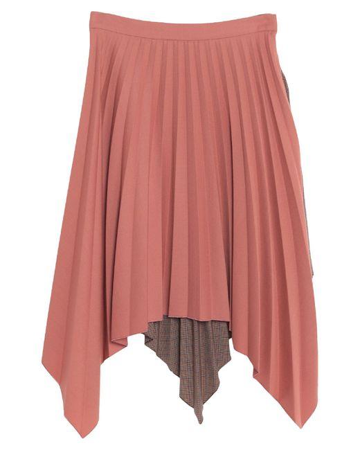 Acne Brown Knee Length Skirt