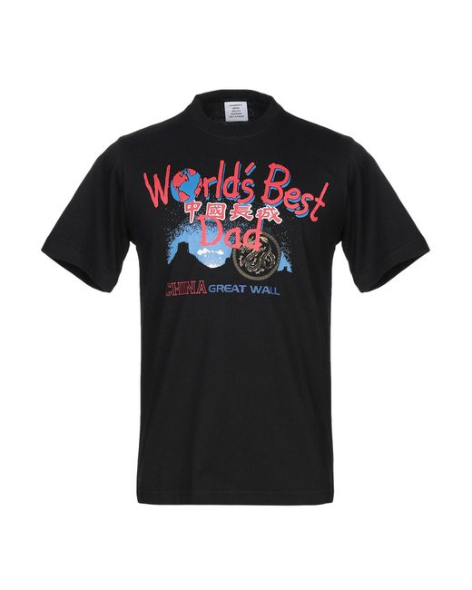 T-shirt Vetements pour homme en coloris Black