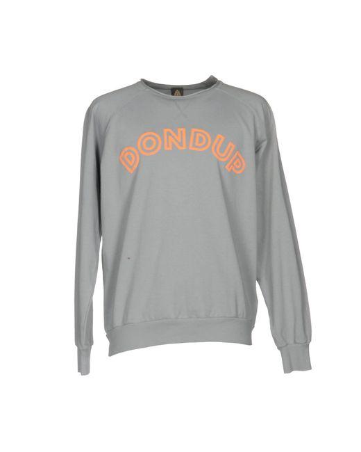 Dondup Gray Sweatshirt for men