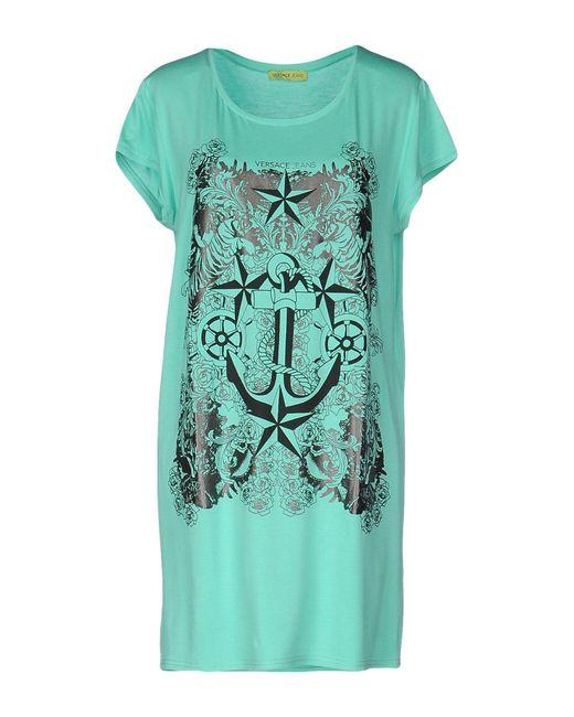 Versace Jeans - Green Short Dress - Lyst