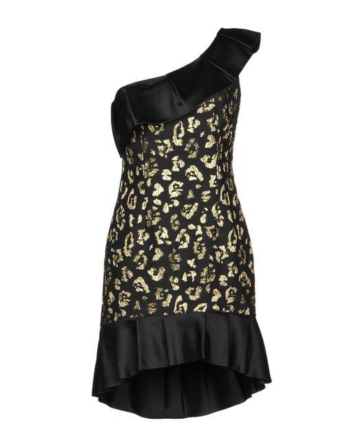 Christian Pellizzari Black Kurzes Kleid