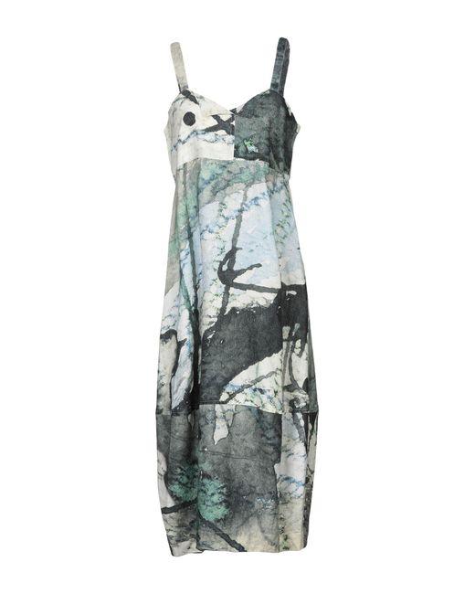 Crea Concept - Green Knee-length Dress - Lyst