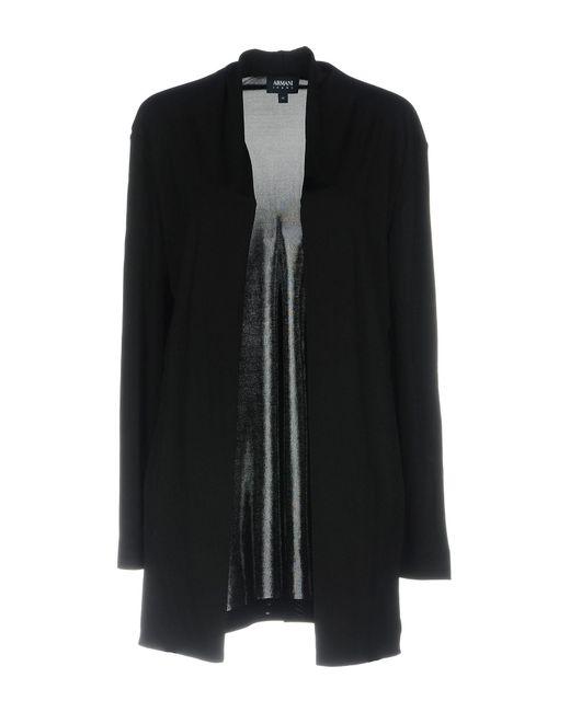 Armani Jeans - Black Cardigan - Lyst