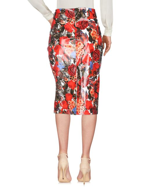 Jupe mi-longue Marni en coloris Red