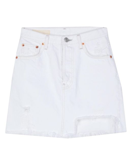 Jupe en jean Haikure en coloris White