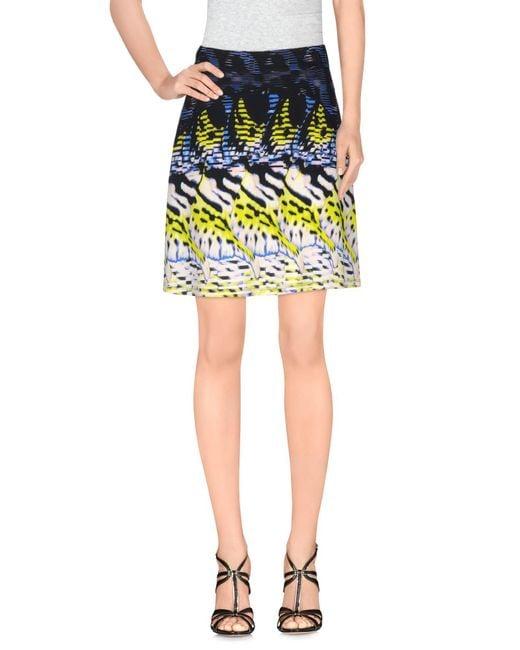Roberto Cavalli | Black Knee Length Skirt | Lyst
