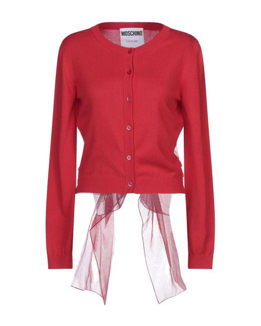 Cardigan di Moschino in Red