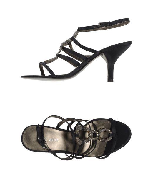 Nine West   Black Sandals   Lyst