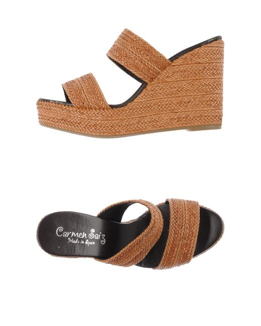 Carmen Saiz | Brown Sandals | Lyst
