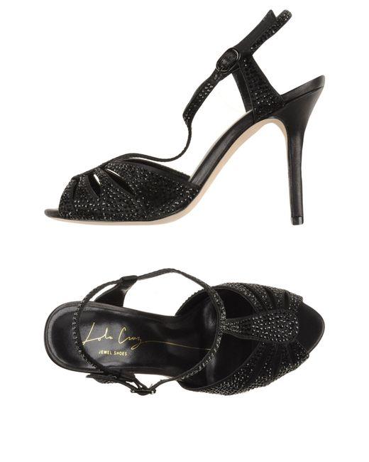 Lola Cruz | Black Sandals | Lyst