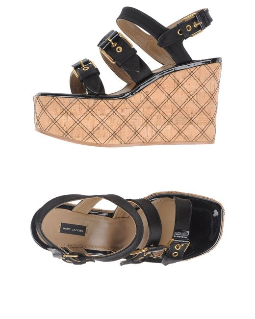 Marc Jacobs | Black Sandals | Lyst