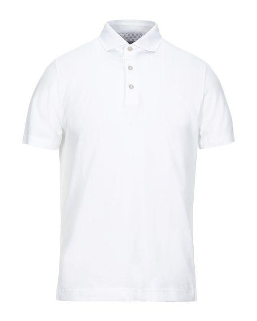 Heritage White Polo Shirt for men