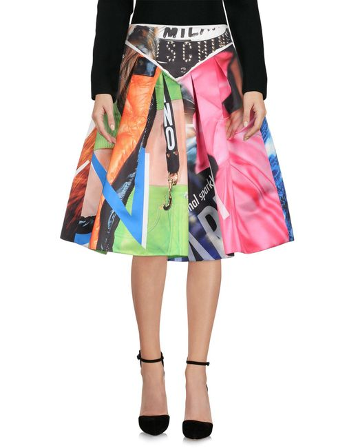 Moschino - Purple Knee Length Skirt - Lyst