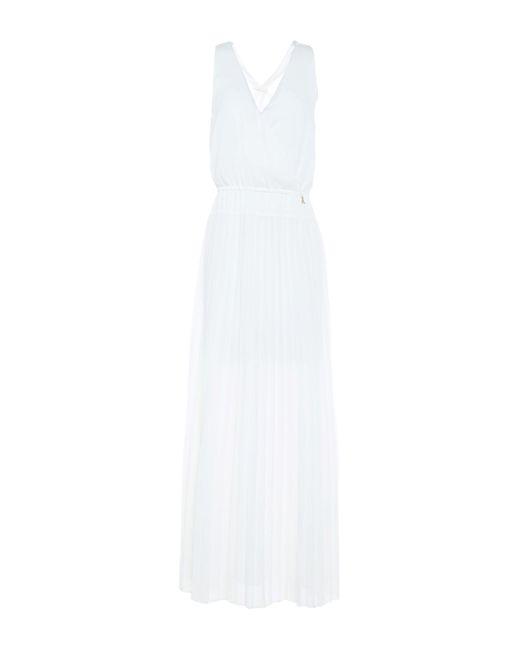 Patrizia Pepe White Langes Kleid
