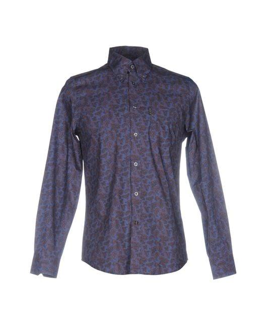 Camisa Ben Sherman de hombre de color Blue