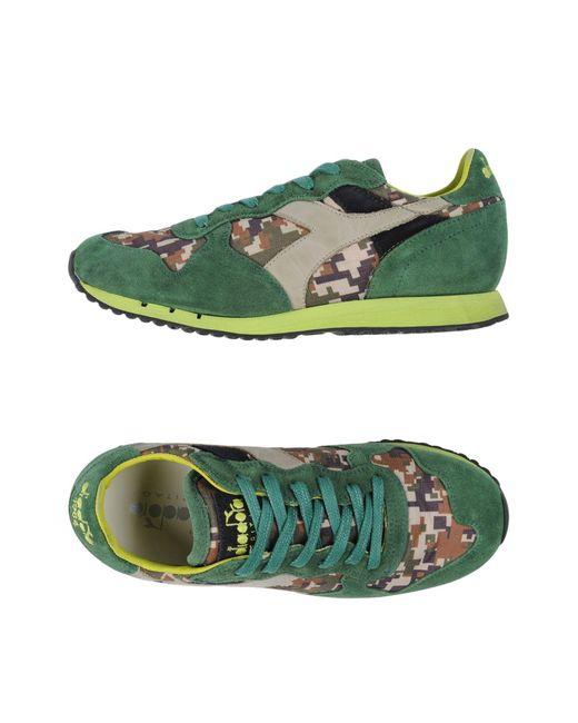 Diadora Low Sneakers & Tennisschuhe in Green für Herren