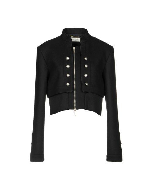 Blouson Saint Laurent en coloris Black