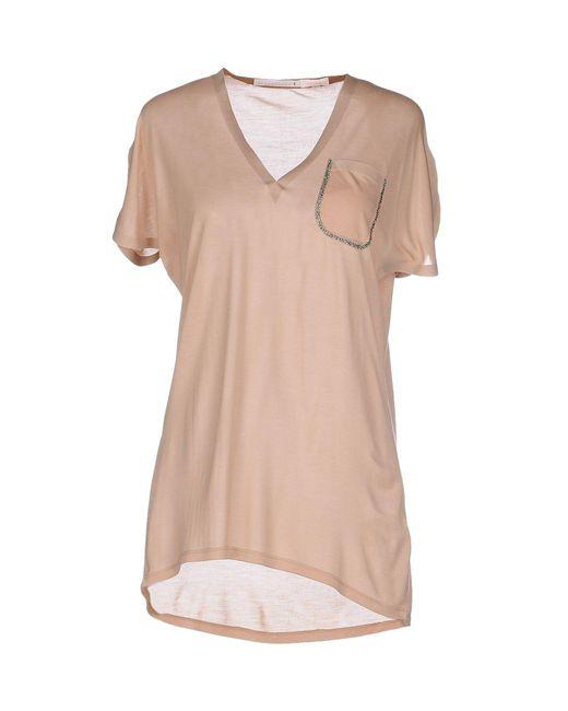 Schumacher - Natural T-shirt - Lyst