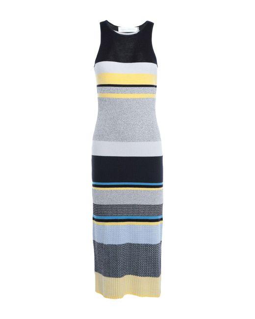 Victoria, Victoria Beckham Gray 3/4 Length Dress