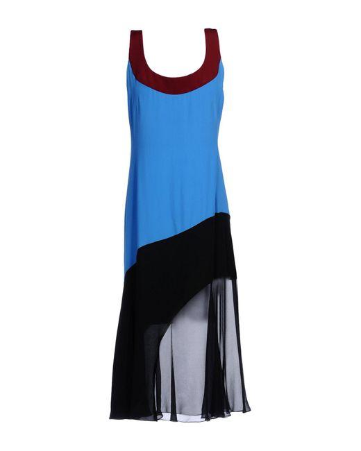 Jonathan Saunders - Blue Knee-length Dress - Lyst