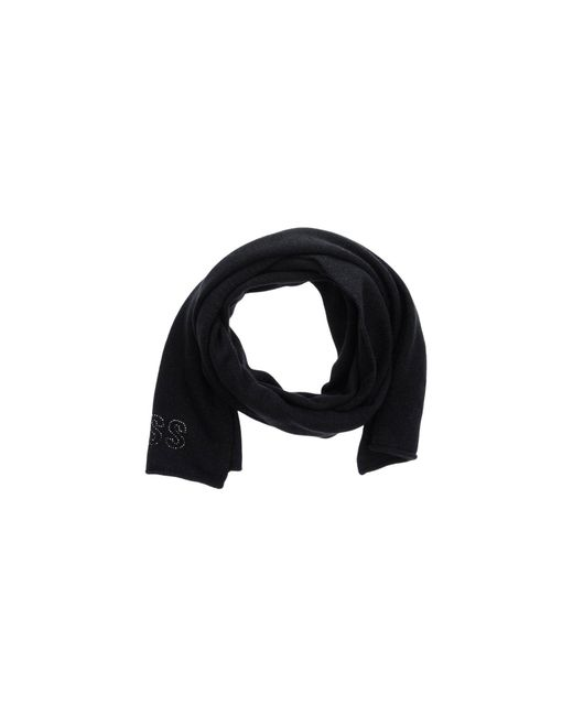 Guess | Black Oblong Scarf | Lyst