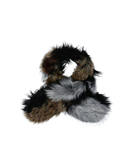 French Connection | Black Oblong Scarf | Lyst