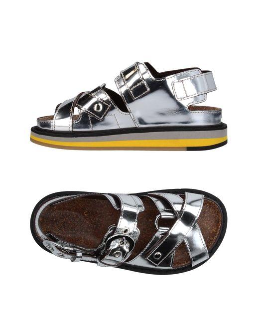 Maison Margiela Metallic Sandals