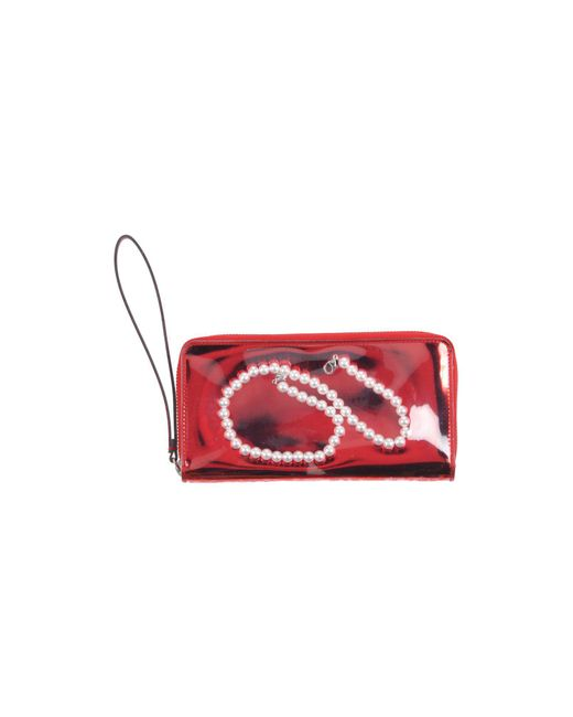 MM6 by Maison Martin Margiela - Red Wallet - Lyst