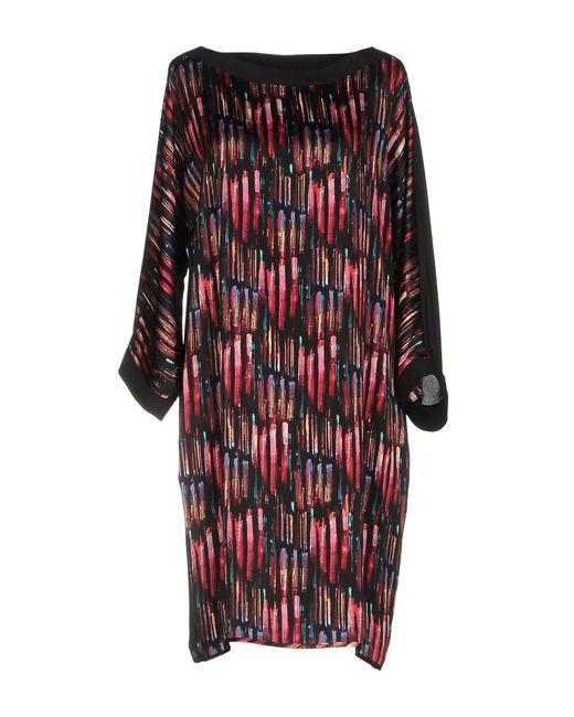 Shirtaporter - Black Short Dress - Lyst