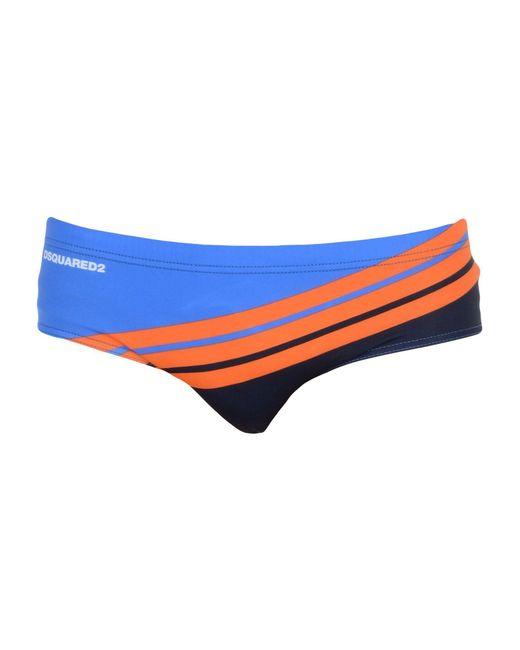 DSquared² - Blue Swim Brief for Men - Lyst