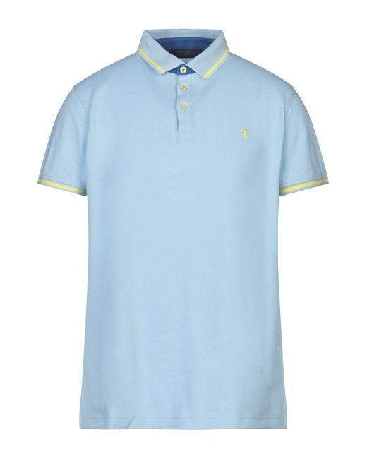 Trussardi Blue Polo Shirt for men