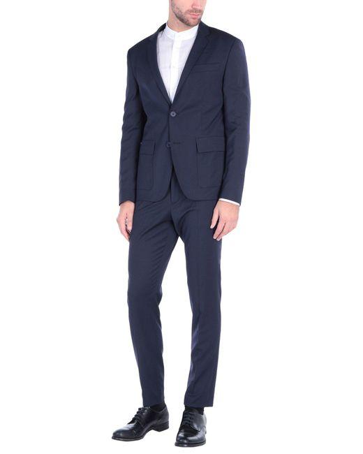 Bikkembergs Blue Suit for men