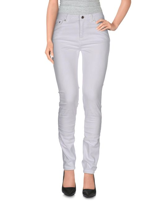 BLK DNM White Denim Pants