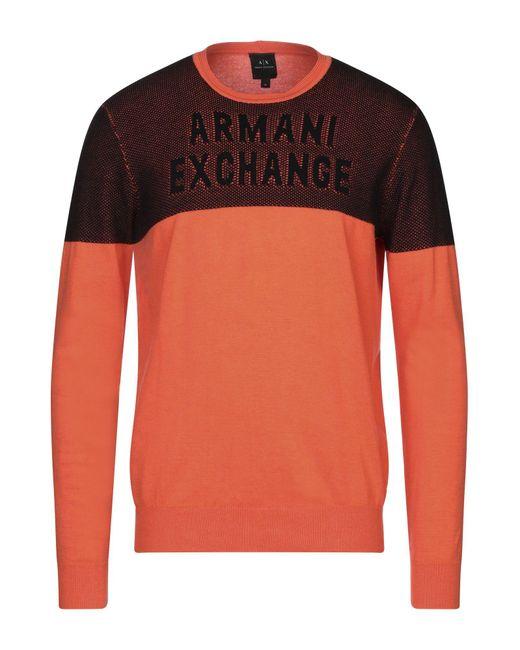 Armani Exchange Orange Jumper for men