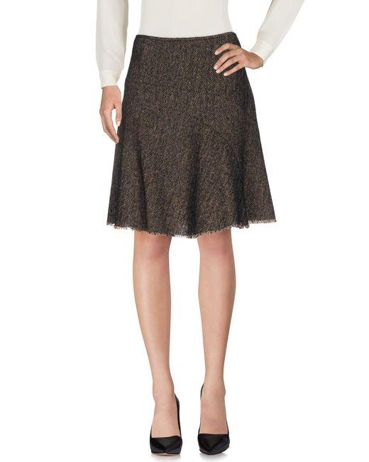 Etro - Black Knee Length Skirt - Lyst
