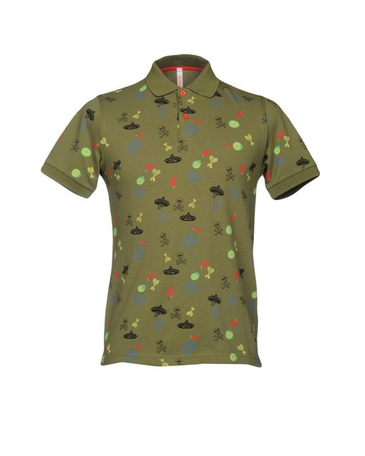 Sun 68 - Green Polo Shirt for Men - Lyst