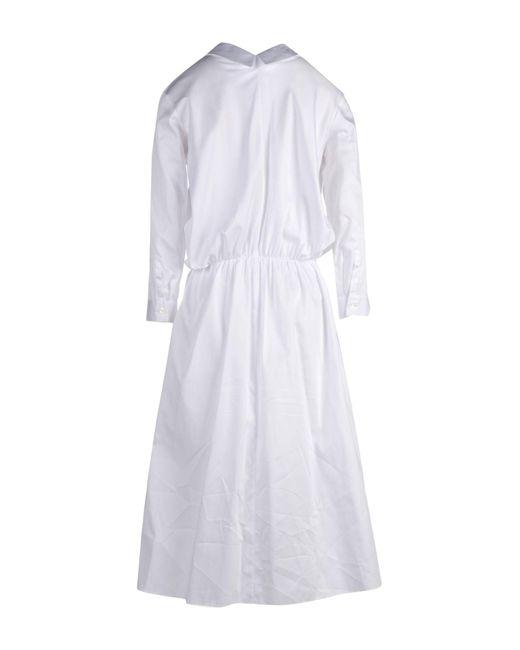 Jil Sander Navy White Knee-length Dress