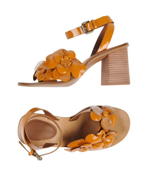 See By Chloé Orange Sandals