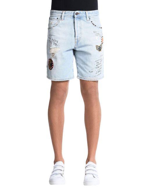 Just Cavalli - Blue Denim Shorts for Men - Lyst